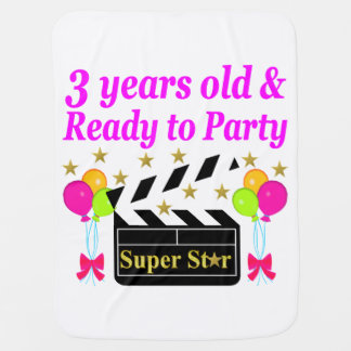 3 RD OLD MOVIE STAR SWADDLE BLANKETS