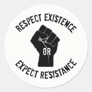 """3"""" RE/EX Resistance Round Stickers"""
