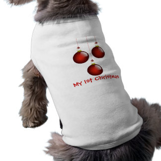 3 Red Ornaments Doggie Shirt