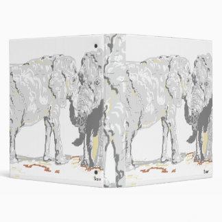 3 Ring Binder /Elephants