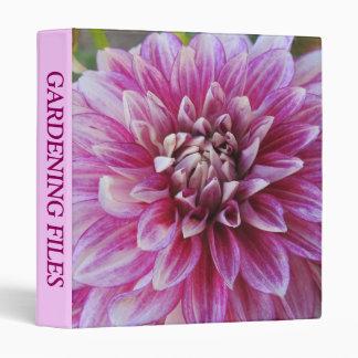 3 Ring Binder--Pink Dahlia Binders