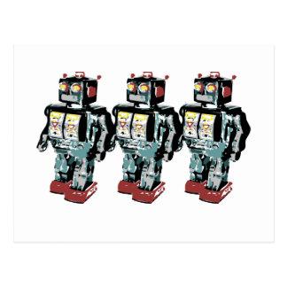 3 Robots Postcard