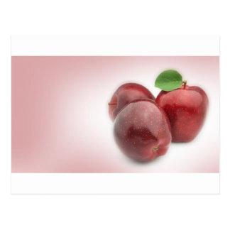 3 Rosy Apples Postcard