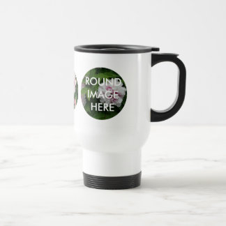 3 Round Images Custom Travel Mug