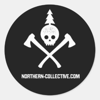 "3"" Round Northern Collective Classic Logo Sticker"
