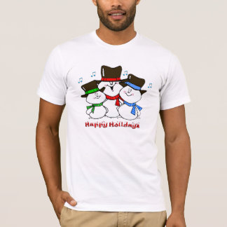 3 Singing Snowmen T-Shirt
