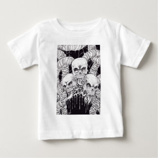 3 Skulls Of Pain Illustration Baby T-Shirt