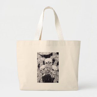 3 Skulls Of Pain Illustration Canvas Bag