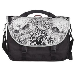 3 Skulls Of Pain Illustration Laptop Bag