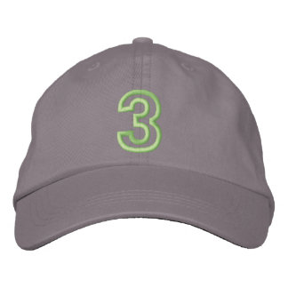 """""""3"""" Small Athletic Number Embroidered Hat"""