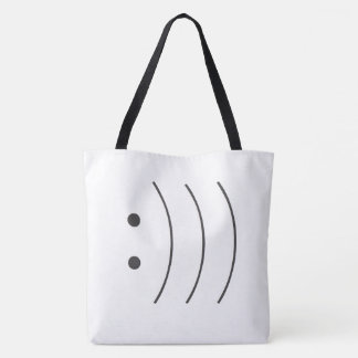 3 smiles tote bag