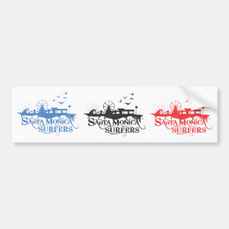 3 SMS Stickers - Blue, Black, and Red Bumper Sticker