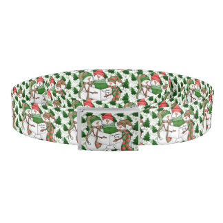3 Snowman Carolers Belt