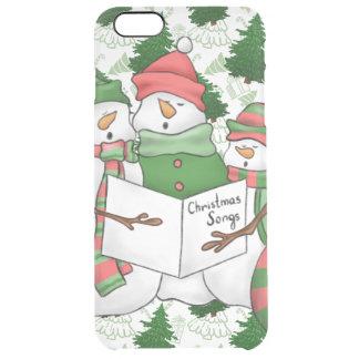 3 Snowman Carolers Clear iPhone 6 Plus Case