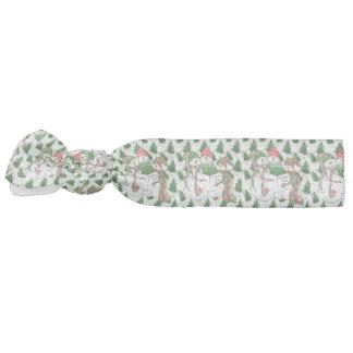 3 Snowman Carolers Hair Tie