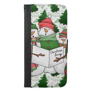 3 Snowman Carolers iPhone 6/6s Plus Wallet Case