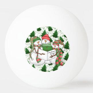 3 Snowman Carolers Ping Pong Ball
