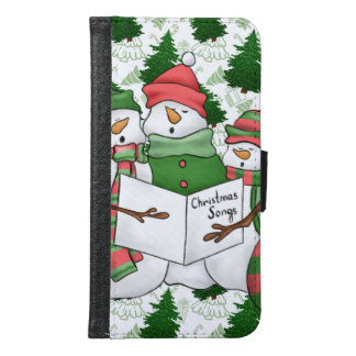 3 Snowman Carolers Samsung Galaxy S6 Wallet Case