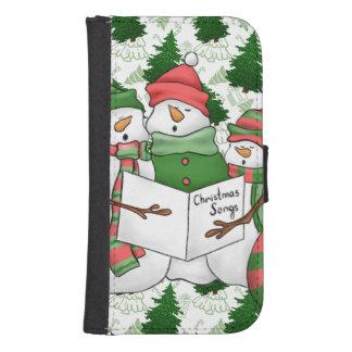 3 Snowman Carolers Samsung S4 Wallet Case