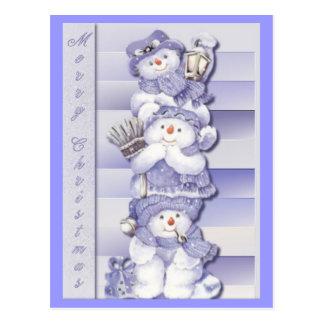 3 Snowmen - Postcard