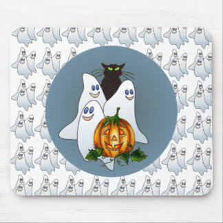 3 SPOOKS, JACK & CAT PAD by SHARON SHARPE Mouse Pad