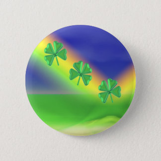 3 St. Patrick's Day 4-Leaf Clovers 2 Inch Round Button