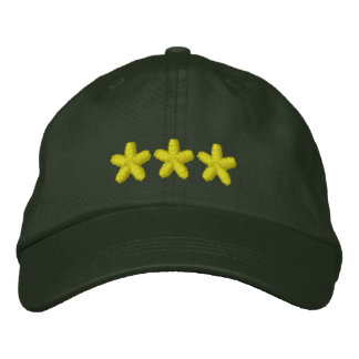 3 Star Embroidered Hat