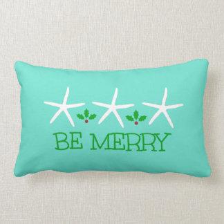 3 Starfish Be Merry Christmas Pillow