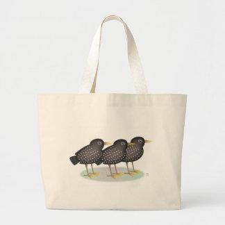 3 starlings large tote bag