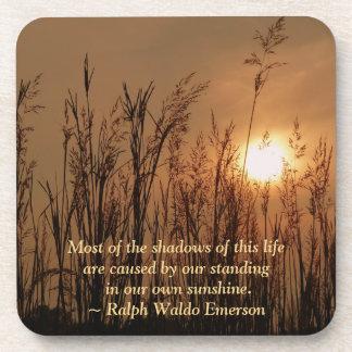 #3 Sun Wheat Field Personal Quote Cork Coas Coaster