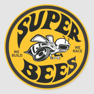 "3"" Super Bees decal Stickers"