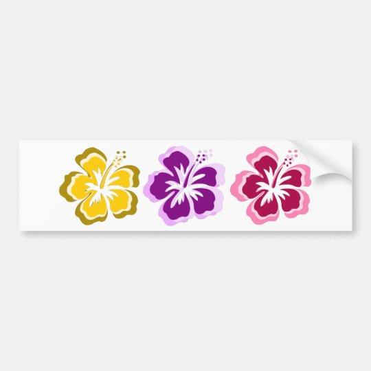 3 sweet flowers bumper sticker