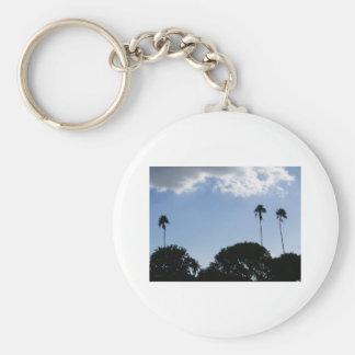 3 Tall Palms Basic Round Button Keychain