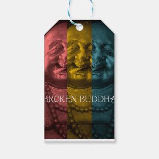 3 times the  broken buddha gift tags