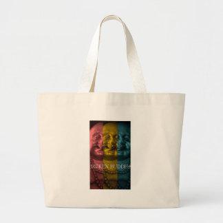 3 times the  broken buddha large tote bag