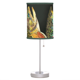 3 Trout - Brook, Brown, Rainbow Table Lamp