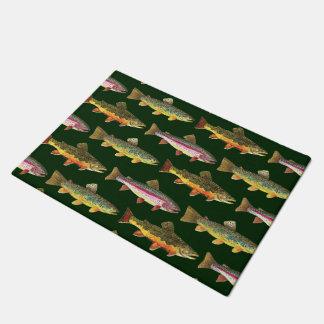 3 Trout Decor - Brook, Rainbow, Brown Doormat