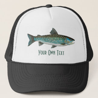 3 Trout Skins: Brook, Rainbow, Brown - Fly Fishing Trucker Hat