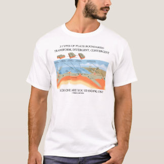 3 Types Of Plate Boundaries - Which Standing On? T-Shirt