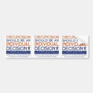 "3 Up ""Individual Decision"" Sticker Bumper Sticker"