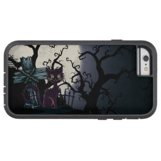 3 Vintage Halloween Cemetery Cat Tough Xtreme iPhone 6 Case