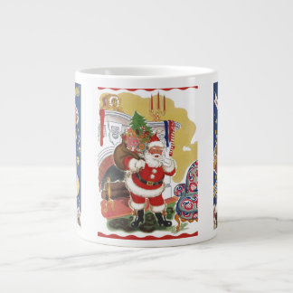 3 Vintage Santas from Twas Night Before Christmas Large Coffee Mug
