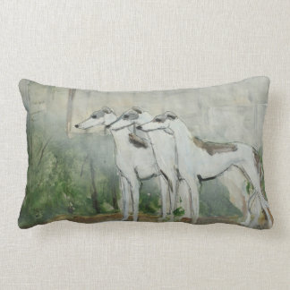 3 Whippets together Lumbar Pillow