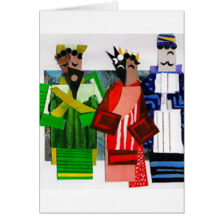 3 Wise Men Cubist Christmas Card