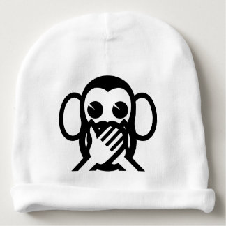 3 Wise Monkeys Iwazaru 言わざる Speak NO Evil Emoji Baby Beanie
