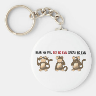 3 Wise Monkeys Keychain