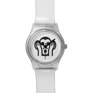 3 Wise Monkeys Kikazaru 聞かざる Hear NO Evil Emoji Wrist Watches