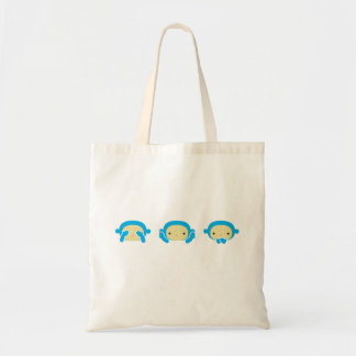3 Wise Monkeys Tote Bag