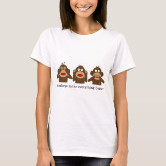 3 Wise Sock Monkeys Women's T-Shirt
