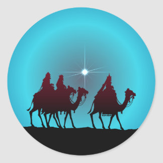 3 WISEMEN & STAR by SHARON SHARPE Classic Round Sticker